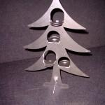 Weihnachtsbaum mit 4 Teelichten
