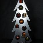 Weihnachtsbaum groß Kugeln & Teelichten